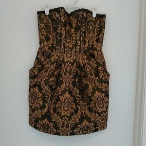 Strapless black & gold dress H&M size 6